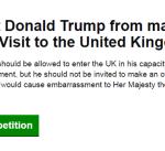 """البرلمان البريطاني ملزم بمناقشة """"منع دخول ترامب"""""""