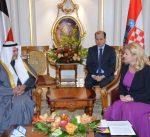 رئيسة كرواتيا تستقبل وزير النفط ووزير الكهرباء والماء