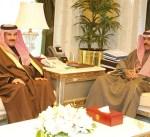 سمو نائب الأمير وولي العهد يستقبل الشيخ مبارك الدعيج