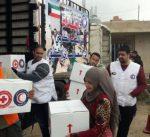 """""""الهلال الأحمر"""" : توزيع مساعدات إنسانية على 500 أسرة سورية نازحة شرق لبنان"""