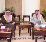 الرئيس الغانم يستقبل وزير الداخلية البحريني
