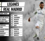 رونالدو وبيل وكروس خارج قائمة ريال مدريد أمام ليغانيس