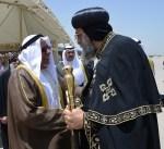 البابا تواضروس الثاني يصل البلاد