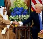 سمو الأمير يزور الرئيس الأمريكي بمقر اقامته بالرياض