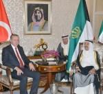 سمو أمير البلاد يجري مباحثات رسمية مع الرئيس التركي