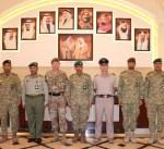 وكيل الحرس الوطني بالتكليف يبحث التعاون العسكري مع وفد بريطاني