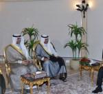 مبعوث سمو الأمير يسلم رسالة خطية الى الرئيس المصري