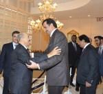 سمو الأمير يستقبل أمير قطر بمقر الكويت لدى الأمم المتحدة