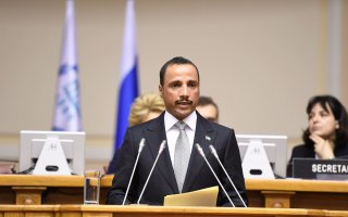 اشادة واسعة بخطاب الرئيس الغانم بالمؤتمر البرلماني الدولي