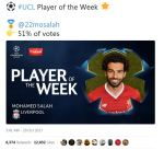 صلاح الأفضل في الجولة الثالثة من دوري أبطال أوروبا