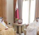 أمير قطر يبحث تطورات الأزمة الخليجية مع وزير الخارجية الكويتي