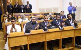 الغانم: فوز البند الطارئ الذي تقدمت به الكويت نجاح للدبلوماسية البرلمانية
