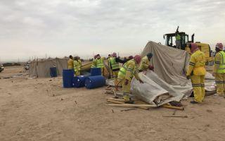 """البلدية تزيل 6 مخيمات مخالفة في """"السالمي"""""""