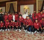 """المنتخب القطري يصل إلى الكويت للمشاركة في """"خليجي 23"""" لكرة القدم"""