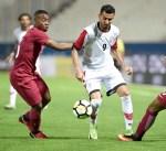 منتخب قطر ينهي الشوط الاول من مباراته مع اليمن بثلاثية نظيفة