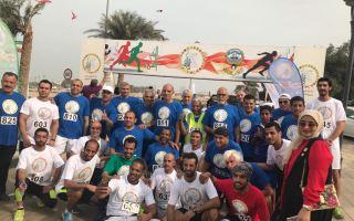 """500 مشارك في ماراثون """"شكراً 2"""" لنشر التوعية الرياضية"""