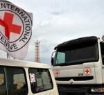 قافلة من 46 شاحنة محملة بمساعدات إنسانية تتحرك باتجاه الغوطة