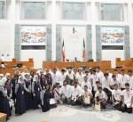 """الرئيس الغانم: حضور الوزارات المعنية لـ""""برلمان الطالب"""" يسهم بتلمس مشاكل الطلبة وتطوير التعليم"""