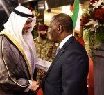 رئيس جمهورية كوت دي فوار يصل إلى البلاد في زيارة رسمية