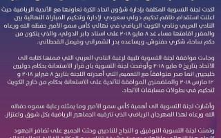 طاقم حكام سعودي لإدارة نهائي كأس سمو الأمير بين الكويت والعربي