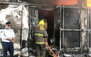 """""""الإطفاء"""": السيطرة على حريق بجمعية هدية التعاونية ادى لاصابة عاملين"""
