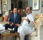 الرئيس الغانم: سعدنا بزيارة الشيخ ناصر صباح الأحمد والحمدلله بصحة جيدة ومعنويات عالية