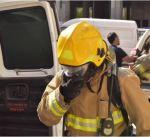 اصابة شخصين بالإختناق في حريق عمارة بالسالمية