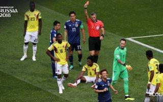 كولومبيا بعشرة لاعبين تسقط أمام اليابان في المجموعة الثامنة