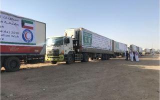 """""""الهلال الأحمر"""" يسير قافلة مساعدات إلى """"الحديدة"""" اليمنية"""