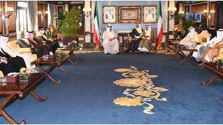 المبارك يستقبل الأمين العام لمجلس التعاون الخليجي والوزراء المعنيين بالعمل البلدي
