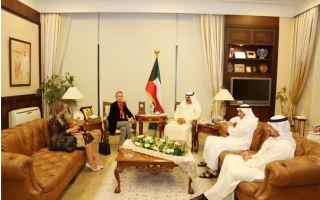 الجارالله يلتقي السفير الأمريكي ومسؤولة أممية كل على حدة