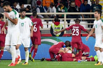 كأس امم اسيا.. منتخب قطر يتأهل الى دور الثمانية على حساب نظيره العراقي