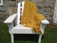Afghan on chair