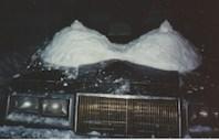 naughty snow sculpture (student prank)