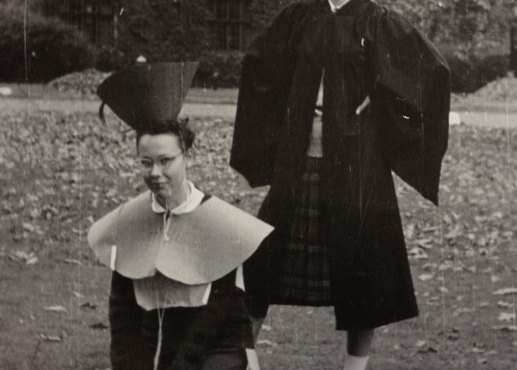A senior hazing a freshman, 1950