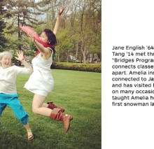 Jane English '64 Amelia Tang '14