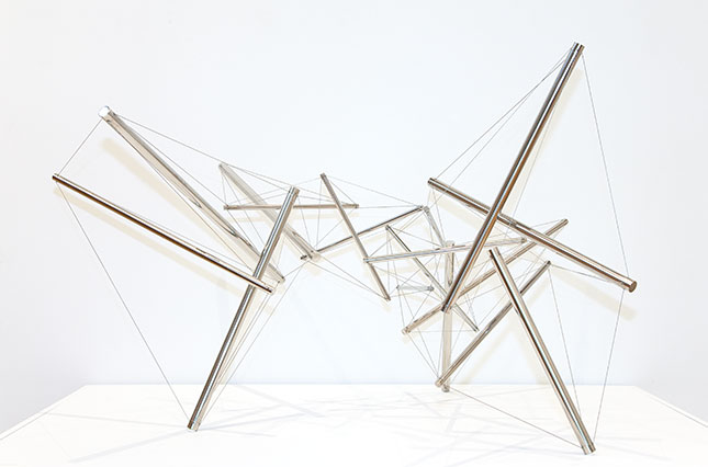 Kenneth Snelson (American, b. 1927). Wing 1, 1992. Stainless steel and wire. Gift of the artist. 2012.53