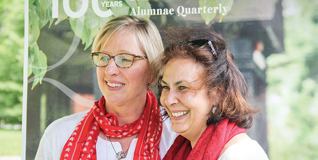 Mary Scheimann '82 (left) and Andrea Rossi-Reder '82