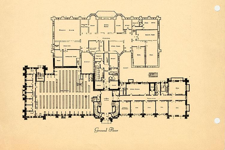 1935: Ground Floor library floor plan