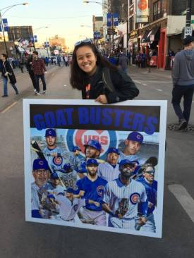 Beverly in Wrigleyville, right outside Wrigley Field, right after the Cubs won
