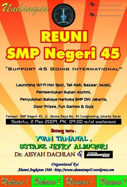 Undangan Alumni Smp Negeri 45 Jakarta