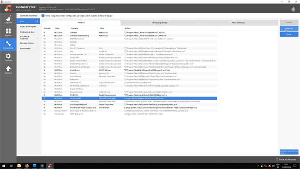 Herramientas para las aplicaciones de inicio de Windows