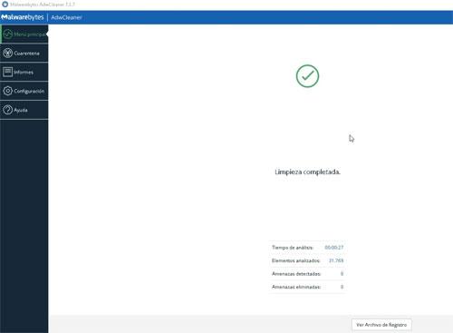 Limpieza de Adware con AdwCleaner.