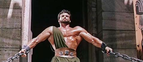 Steve Reeves en la película Hercules