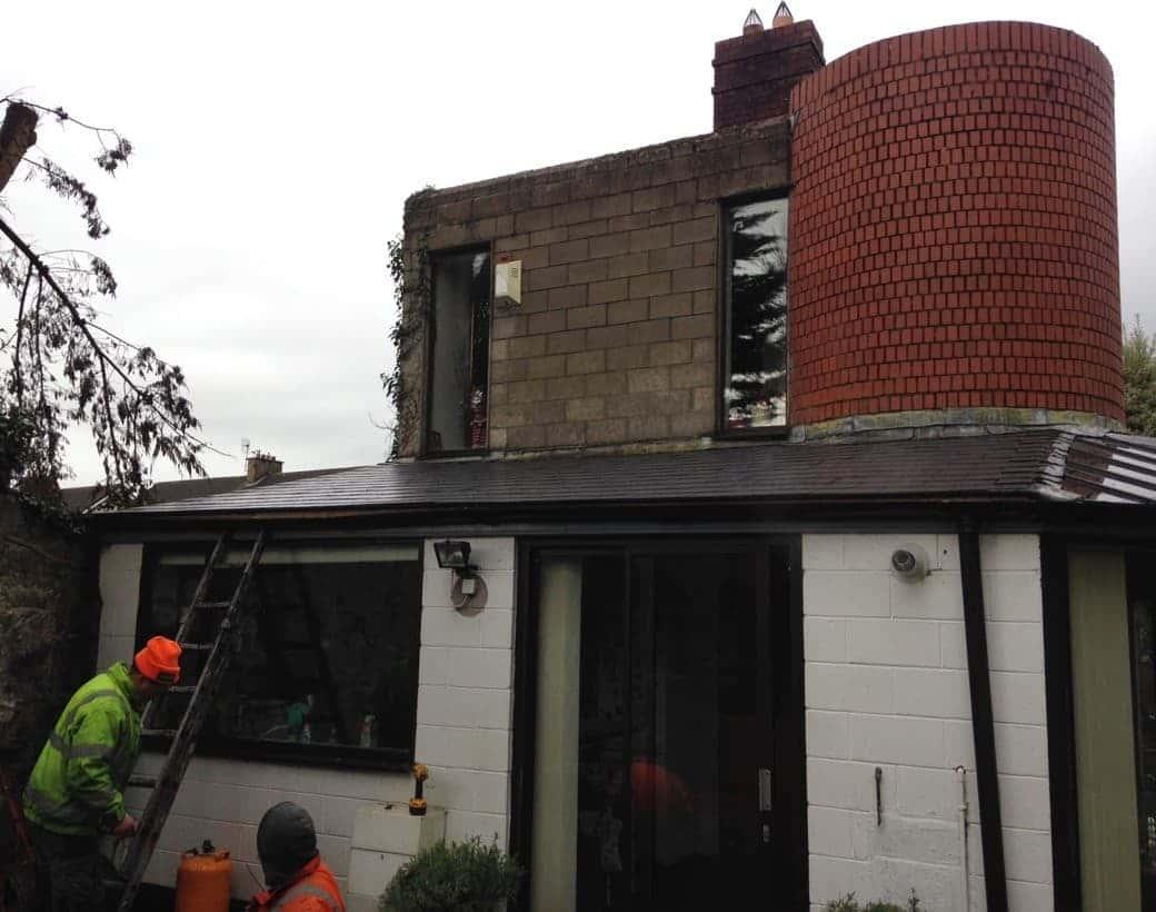 Setup for Roof Repair Ennis Road Limerick