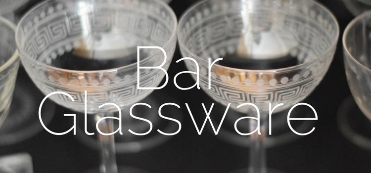 Bar Glassware for your home bar