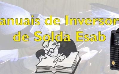 Manuais de inversor solda Esab