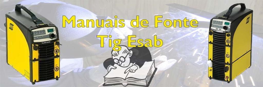 Manuais de maquinas Tig Esab