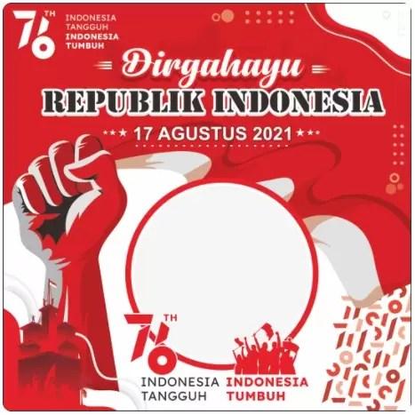 Twibbon 17 Agustus 2021 Indonesia Merdeka