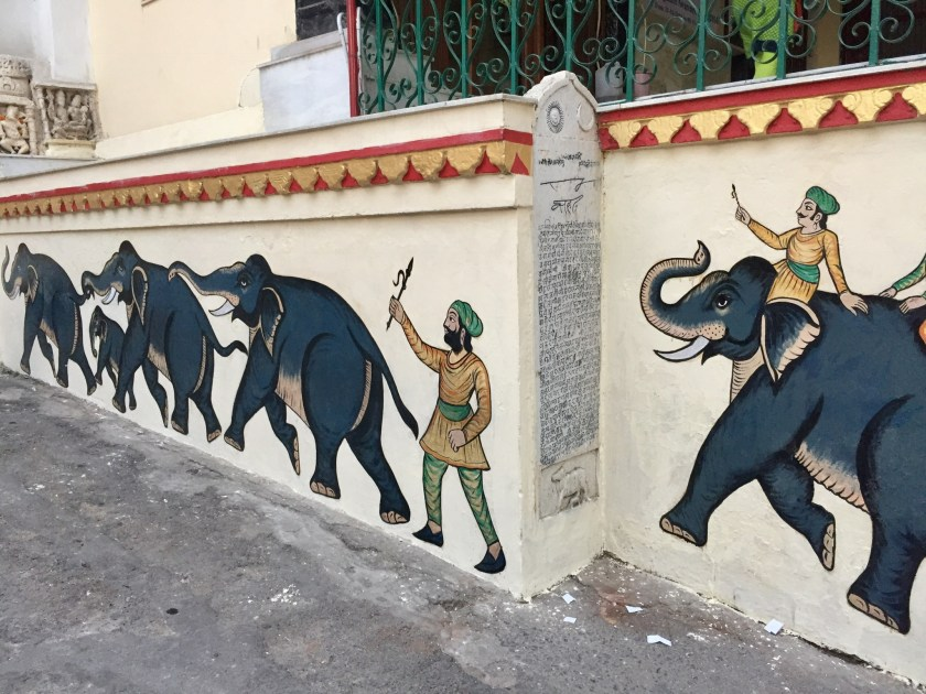 Mural on City Palace Gate